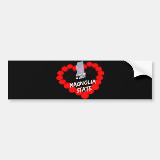 Candle Heart Design For The State of Mississippi Bumper Sticker