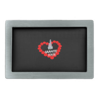 Candle Heart Design For The State of New Hampshire Belt Buckle