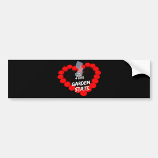 Candle Heart Design For The State of New Jersey Bumper Sticker