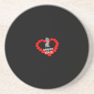 Candle Heart Design For The State of New Jersey Drink Coaster