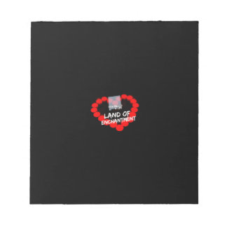 Candle Heart Design For The State of New Mexico Notepad