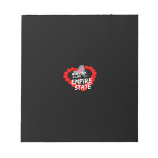 Candle Heart Design For The State of New York Notepad