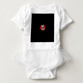 Candle Heart Design For The State of Oregon Baby Bodysuit