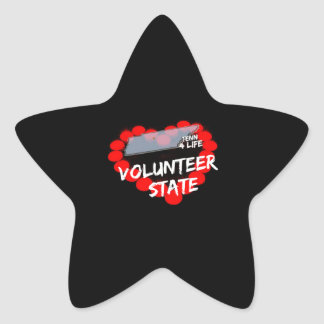 Candle Heart Design For The State of Tennessee Star Sticker