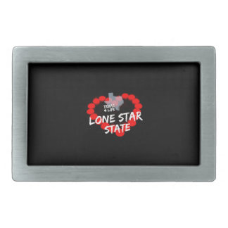 Candle Heart Design For The State of Texas Belt Buckle