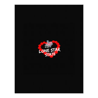 Candle Heart Design For The State of Texas Letterhead