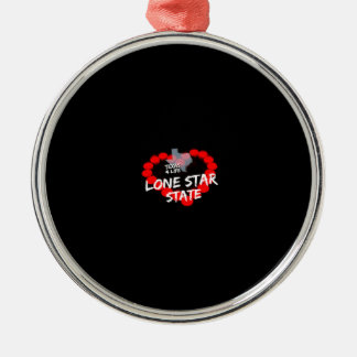Candle Heart Design For The State of Texas Metal Ornament