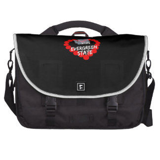 Candle Heart Design For The State of Washington Commuter Bags