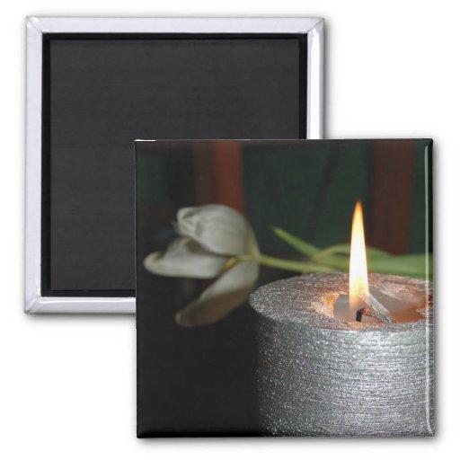 Candle Imán Cuadrado