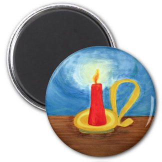Candle in the Dark 2 Inch Round Magnet