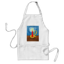 Candle in the Dark Adult Apron