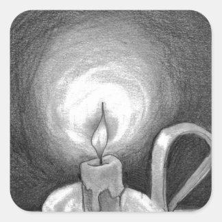 Candle in the Dark Square Sticker