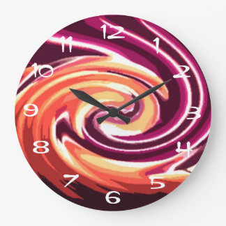 Candle in the Wind (fuschia) Large Clock