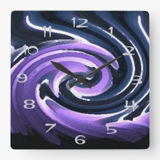 Candle in the Wind (purple) Square Wall Clock