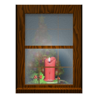 Candle in the Window Poster