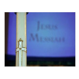 Candle, Jesus Messiah Postcard