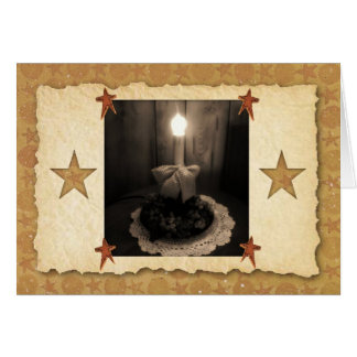 Candle Lamp Note Card