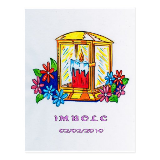 Candle Lantern and Flowers: Postcard