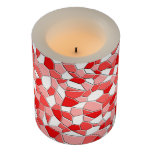 Candle - LED - Shades of Red Mosaic
