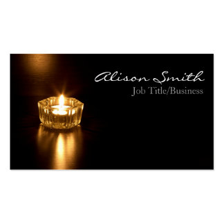 Candle/light business cars business card templates