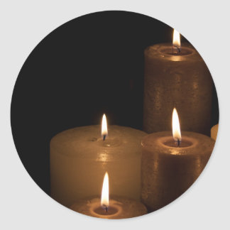 Candle Light Classic Round Sticker