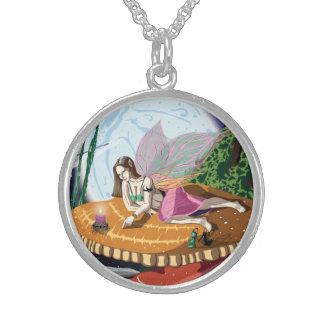 Candle Light Fairy Sterling Silver Necklace