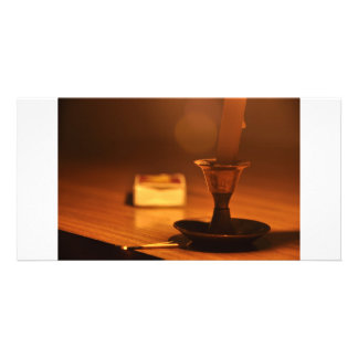 Candle Light Photo Card