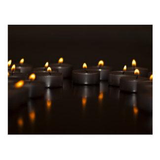 candle light postcards