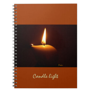 candle light spiral notebook