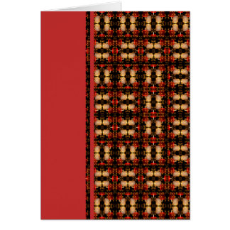 Candle Lights Grid Stationery Note Card