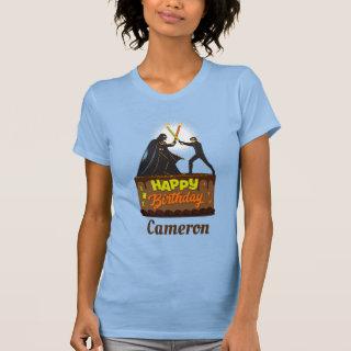 Candle Lightsaber Battle Birthday Cake T-Shirt