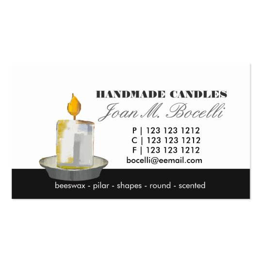 Candle Maker Making Business Card