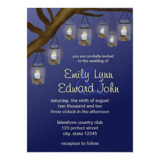 Candle Mason Jars 5.5x7.5 Paper Invitation Card