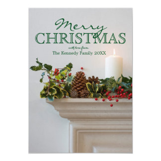 Candle on a mantel card