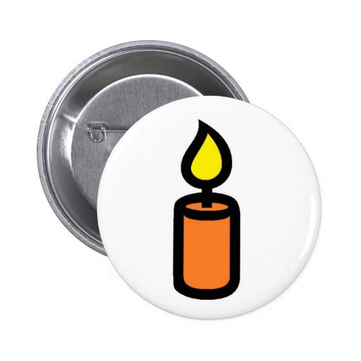 candle orange button