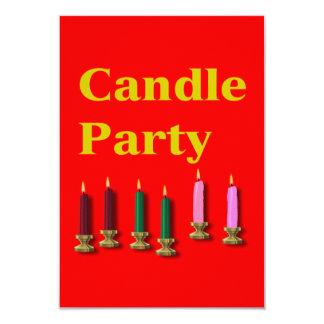 "Candle Party Invitation Card 3.5"" X 5"" Invitation Card"