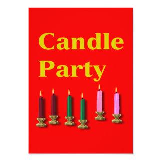 "Candle Party Invitation Card 5"" X 7"" Invitation Card"