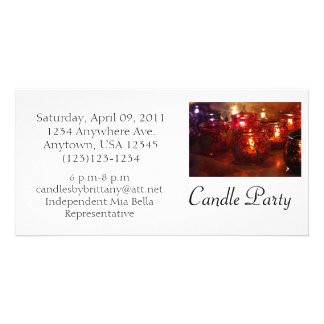 Candle Party Photo Invite
