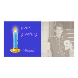 Candle Personalized Photo Card