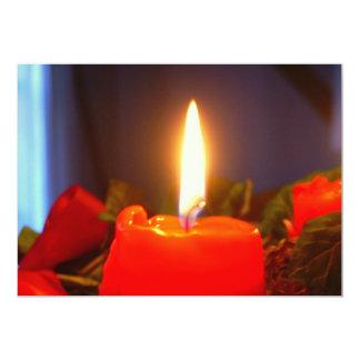 candle photo invitation card
