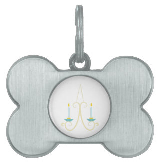 Candle Sconce Pet ID Tag