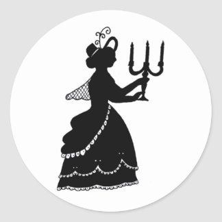 Candle silhouette stickers