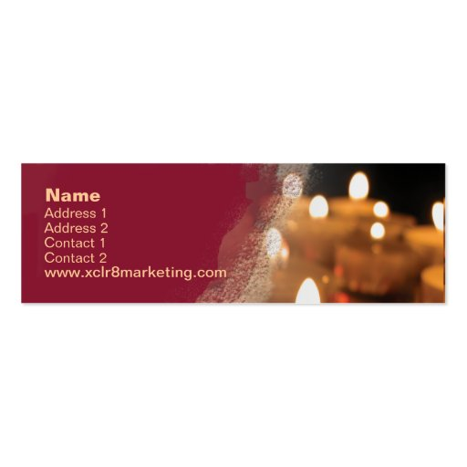 Candle business card templates page2 bizcardstudio candle skinny business card template colourmoves Choice Image