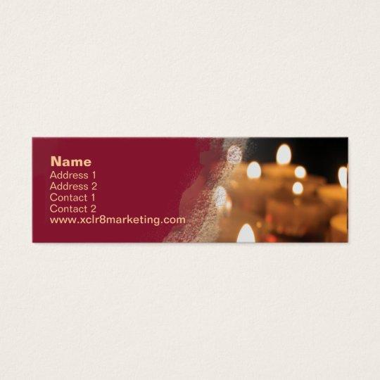 Candle Skinny Mini Business Card