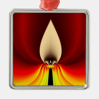 Candle Sqaure Ornament