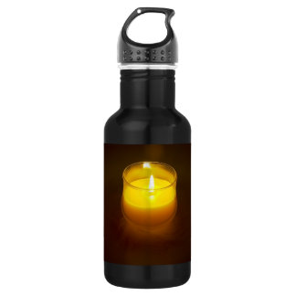 candle stainless steel water bottle