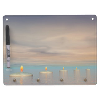 Candle steps - 3D render Dry Erase Board With Keychain Holder