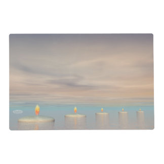 Candle steps - 3D render Placemat