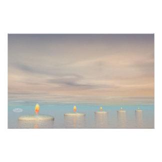 Candle steps - 3D render Stationery
