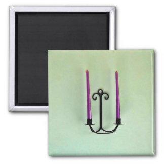 Candle sticks fridge magnets